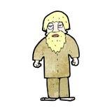 cartoon hippie man with beard Royalty Free Stock Photo