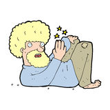 Cartoon hippie man Stock Image