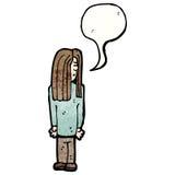Cartoon hippie man with speech bubble Stock Photo
