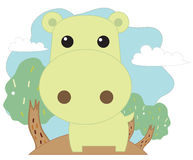Cartoon hippo Royalty Free Stock Photos