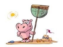 Cartoon hippo Stock Photography