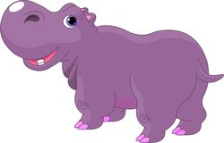 Cartoon Hippo stock illustration