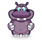 Cartoon hippo Stock Images