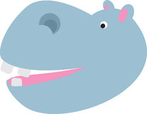 Cartoon hippo head Stock Photos