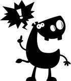 Cartoon Hippo Silhouette Talking Stock Photo
