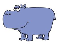 Cartoon hippopotamus Stock Photo