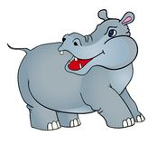 Cartoon hippopotamus Royalty Free Stock Photo