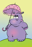Cartoon hippopotamus Royalty Free Stock Images