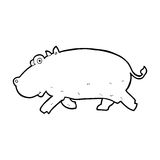 Cartoon hippopotamus Stock Photos