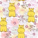 Cartoon hippopotamus Royalty Free Stock Images