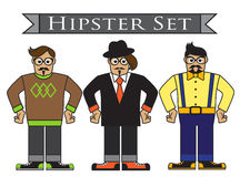 Cartoon hipsters Royalty Free Stock Images