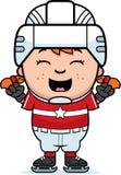 Cartoon Hockey Player Celebrate Stock Photos