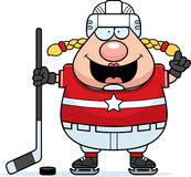 Cartoon Hockey Player Idea Royalty Free Stock Photo