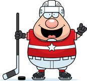 Cartoon Hockey Player Idea Royalty Free Stock Photography
