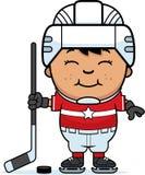 Cartoon Hockey Player Stock Image