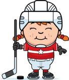 Cartoon Hockey Player Stock Images