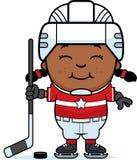 Cartoon Hockey Player Royalty Free Stock Image