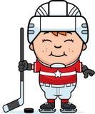 Cartoon Hockey Player Royalty Free Stock Photos
