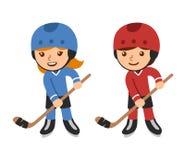 Cartoon hockey players Royalty Free Stock Photography