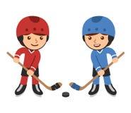 Cartoon hockey players Royalty Free Stock Photos