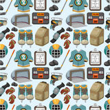 Cartoon hockey sport seamless pattern Royalty Free Stock Image