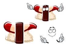 Cartoon hokkigai nigiri sushi character Stock Images