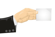 Cartoon and holding paper card Stock Image