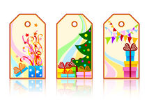 Cartoon holiday labels Stock Photo