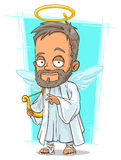 Cartoon holy man with small wings Stock Photography