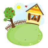 Cartoon home Stock Photo