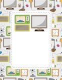 Cartoon home appliance seamless pattern Royalty Free Stock Photo