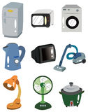 Cartoon Home Appliances icon Stock Photos