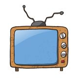 Cartoon Home Appliances Old TV Isolated on White. Background Stock Images