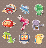 Cartoon Home Appliances stickers Royalty Free Stock Photos