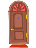 Cartoon Home Door Royalty Free Stock Photography