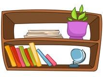 Cartoon Home Furniture Book Shelf royalty free illustration