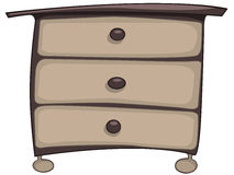 Cartoon Home Furniture Chest of Drawers Stock Images