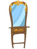 Cartoon Home Furniture Chest of Drawers Royalty Free Stock Images