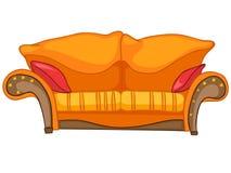 Cartoon Home Furniture Sofa. Isolated on White Background royalty free illustration