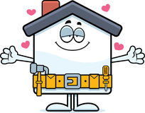 Cartoon Home Improvement Hug Royalty Free Stock Images