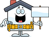 Cartoon Home Improvement Sign Royalty Free Stock Photography