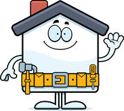 Cartoon Home Improvement Waving Stock Photo