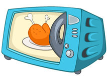 Cartoon Home Kitchen Microwave Royalty Free Stock Image