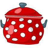 Cartoon Home Kitchen Pot Stock Image
