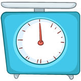 Cartoon Home Kitchen Scales stock illustration