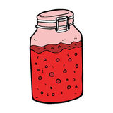 Cartoon home made preserve Royalty Free Stock Images