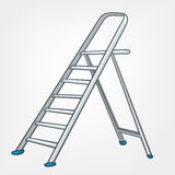 Cartoon Home Miscellaneous Ladder Royalty Free Stock Images