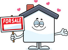 Cartoon Home Sale Love Royalty Free Stock Images