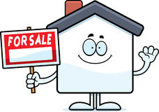 Cartoon Home Sale Waving Stock Images