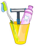 Cartoon Home Washroom Tooth Brush Stock Image